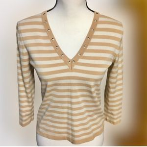 Cable & Gauge Striped Pullover
